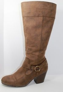 Aerosoles double zipper tall boots